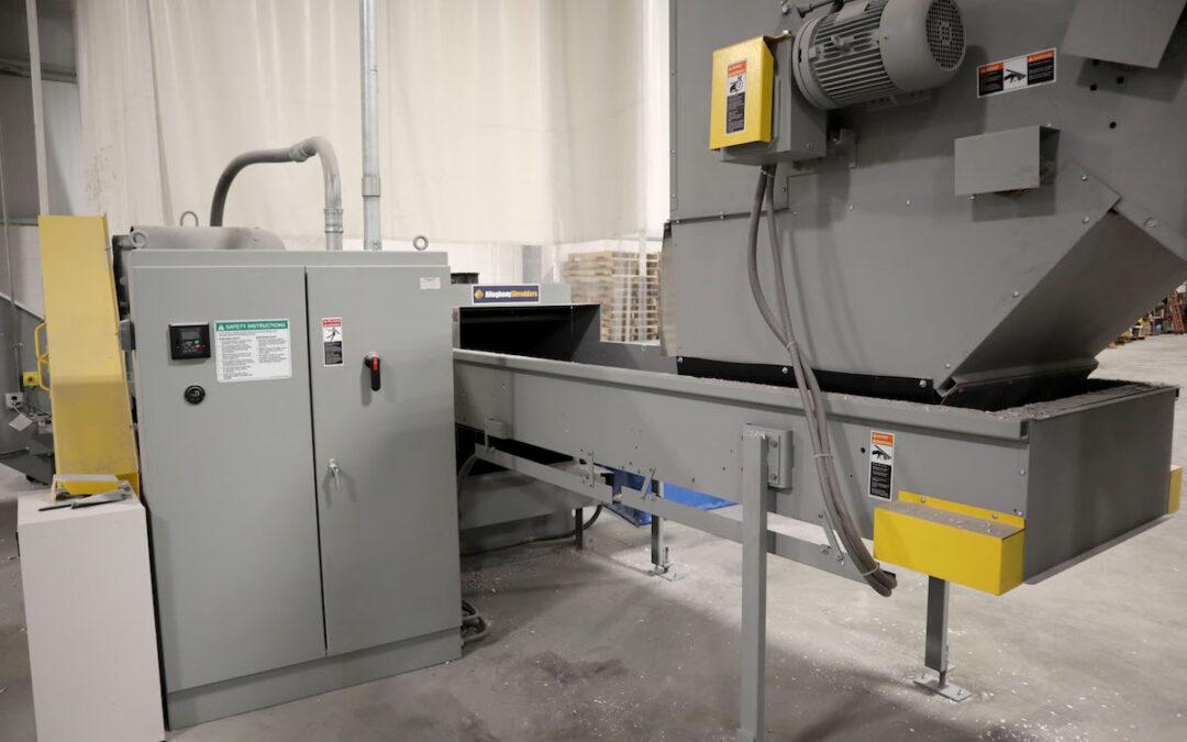 Industrial Shredder Allegheny 36 1000HD 150 Hp. Industrial Shredder System 11 Rapid Shred